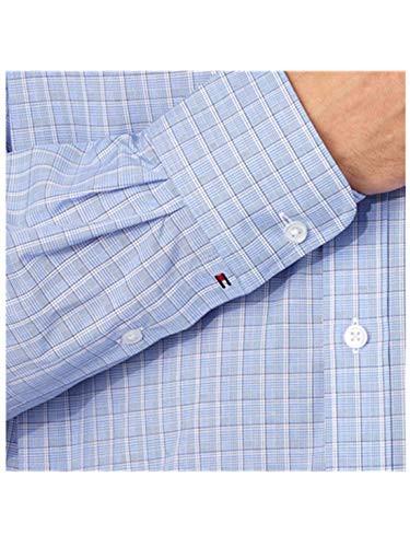Tommy Hilfiger Men's Regular Fit Spread Collar Long Sleeve Dress Shirt Two Pack