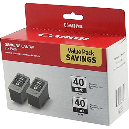 2 X Canon PG40 (PG-40) Ink Tank, 195 Page-Yield, Black (CNMPG40)