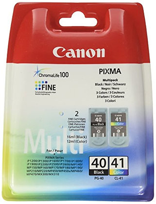 PG-40/CL-41 multi pack, 2 ink cartridges, blister with security