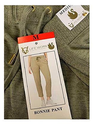 Life Worx by Gloria Vanderbilt Women's Bonnie Pant (Olive, X-Large)