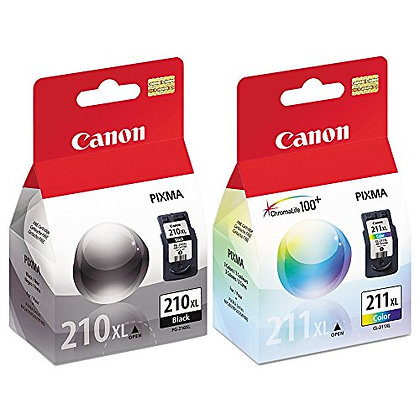 Canon PIXMA MP480 (PG210XL/CL211XL) Extra High Yield Ink Cartridge Set