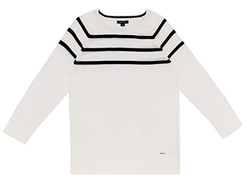 Nautica Women's Long Sleeve Crew Neck Sweater (Marshmallows, XX-Large)