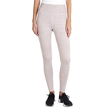 Danskin Women's Active High Waist Space Dye Legging, Dusty Rose, Small