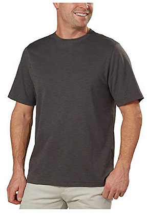 Kirkland Signature Men's Slub Cotton Tee (Gray, X-Large)