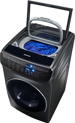 Samsung - 5.5 Cu. Ft. High Efficiency Front Load Washer with Steam and FlexWash