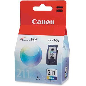 Canon 211 OEM Ink Cartridge: TriColor CL211
