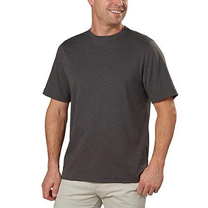 Kirkland Signature Mens Slub 100% Cotton Classic Fit Tee Shirt (XL, Grey)