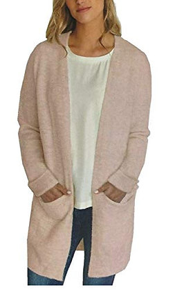 Buffalo Women's Cozy Cardigan (Pink Tint, X-Large)