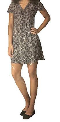Soybu Women's V-Neck Dress Midnight Palms (M)