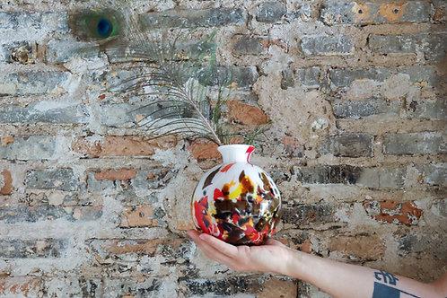 Pūsto stiklo vaza