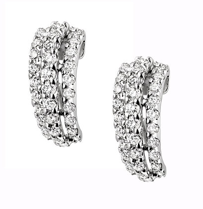 Curved Three Tier Earrings (M)