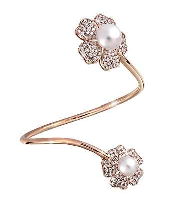 Forget Me Not Pearl Bangle