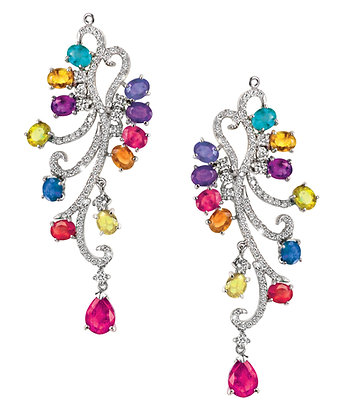 Multicoloured Fancy Sapphire Earrings