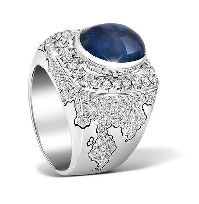 Conqueror Oval Blue Sapphire Ring