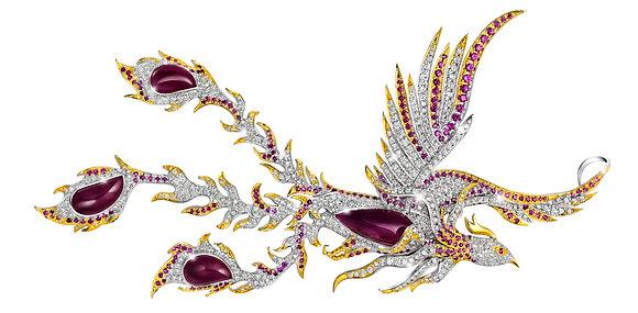 Fearless Phoenix Brooch-Pendant