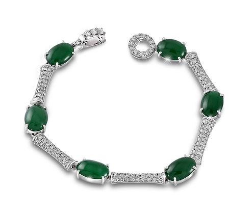 Jade Bamboo Bracelet