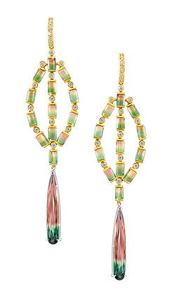 Watermelon Tourmaline Earrings