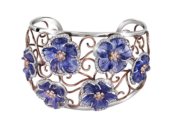 Forget Me Not Tanzanite Bangle