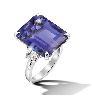 Rectangular Tanzanite Ring