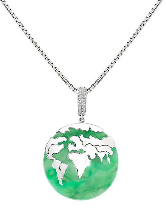 Conqueror Jadeite Globe Pendant