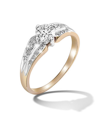 Bicolour Diamond Ring
