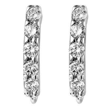 Slim 5 Diamond Earrings (L)