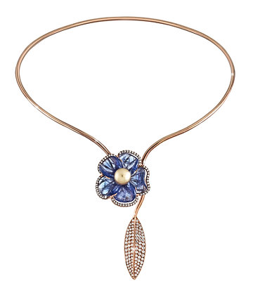 Forget Me Not Tanzanite Necklace