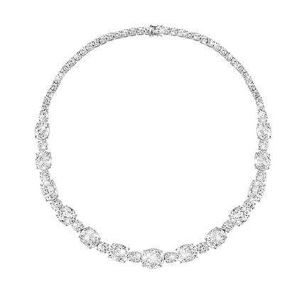 White Zircon Alternate Necklace