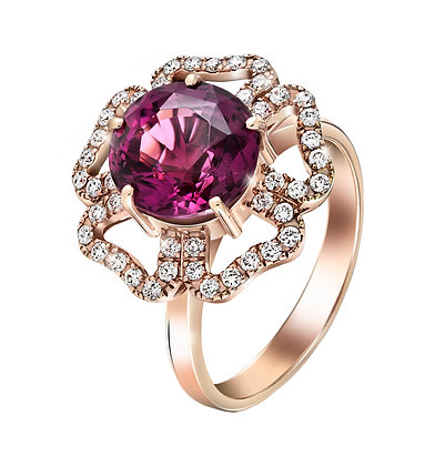 Forget Me Not Rubellite Ring