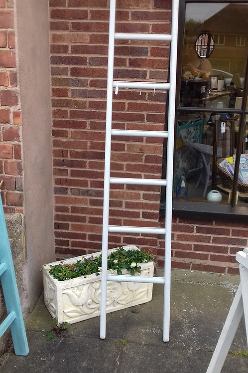 Tall painted ladder