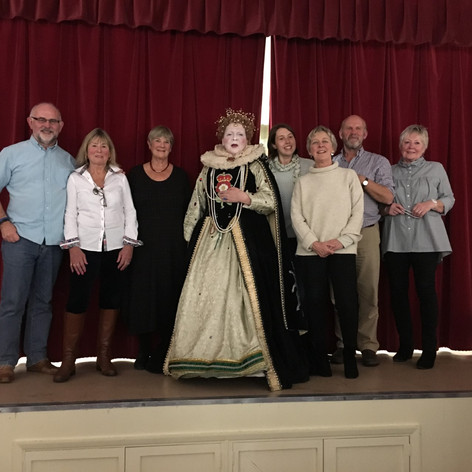 Committee members with Elizabeth I, November 2018