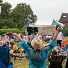 Rachel Ball entertains the crowd at our Big Weekend, June 2019
