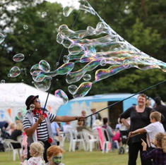 Giant bubbles at The Big Weekend, June 2017