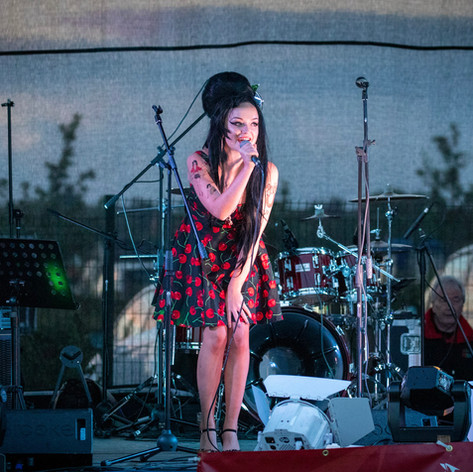 An Amy Winehouse tribute plays at our outdoor concert, June 2019