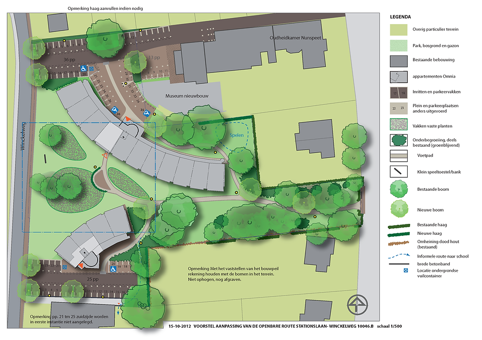Definitief ontwerp van de openbare ruimte Winckelweg Nunspeet