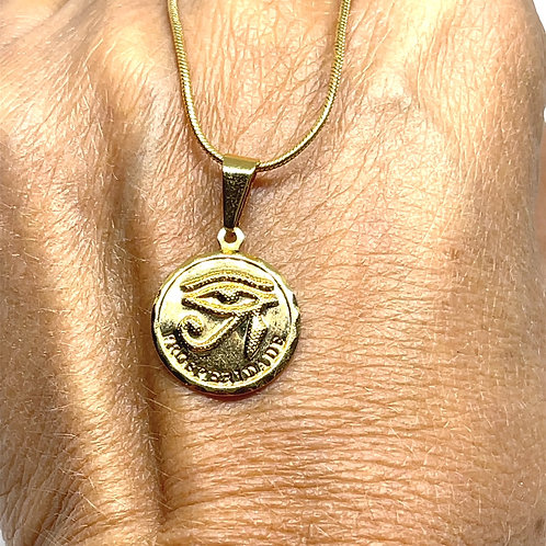 Gold Eye of Ra Necklace