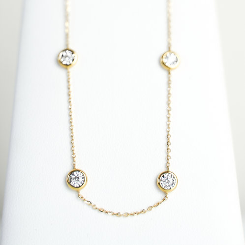 18K Yellow Gold Diamond by the Yard Necklace