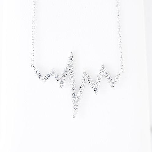 18KW Diamond Heart Beat Necklace