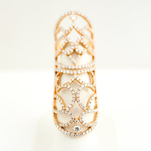 18K Rose Gold & Diamond Henna Inspired Ring