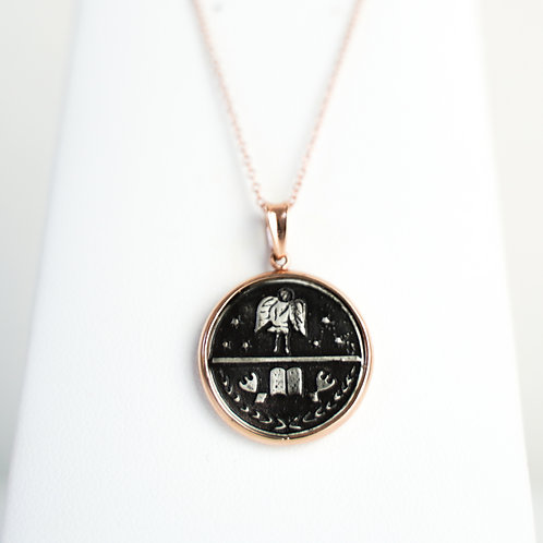 Rose Gold Double-Sided Protective Guardian Medallion