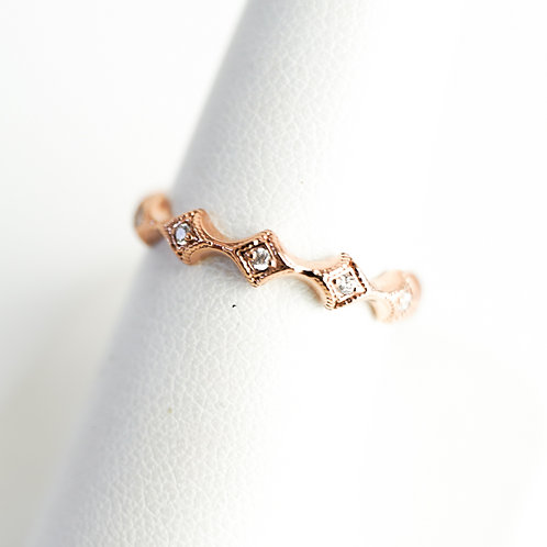Rose Gold & Diamond Stackable