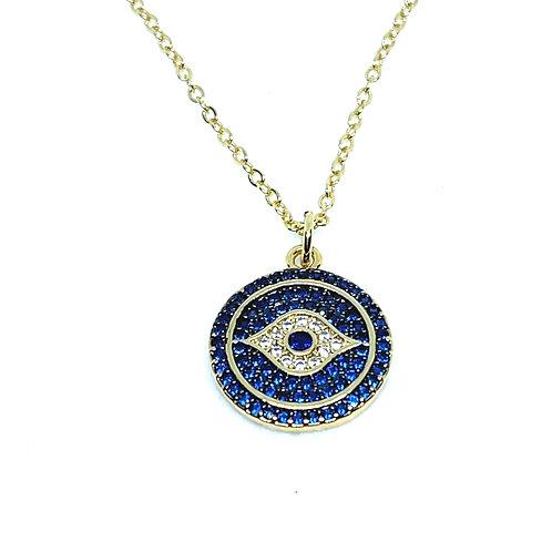 Small Evil Eye CZ Necklace