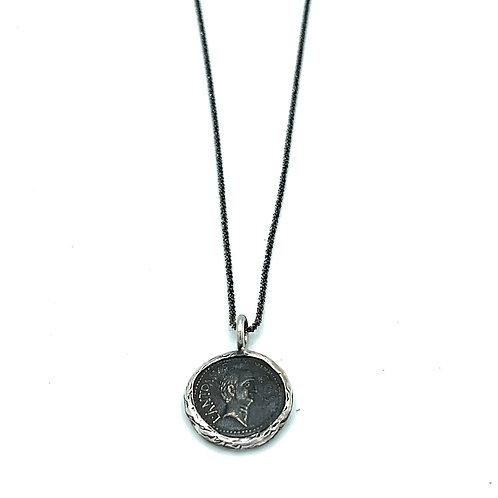 Black Coin Necklace
