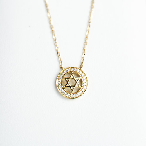 18K Yellow Gold Star Necklace