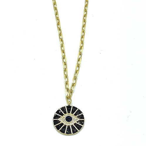 Large Evil Eye Chainlink Necklace