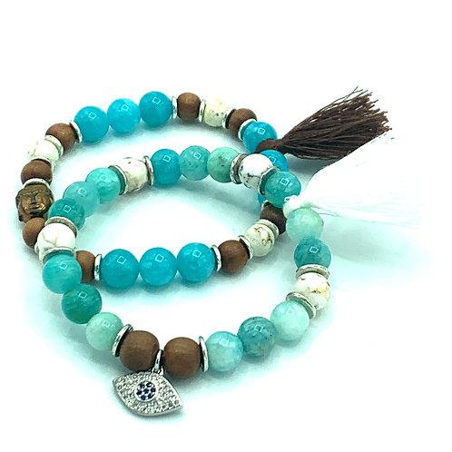 Summer Blues Healing Bracelets