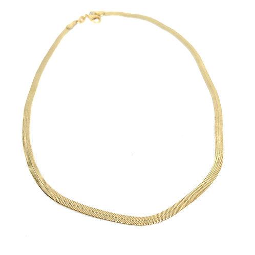 Large Herringbone Chain Necklace