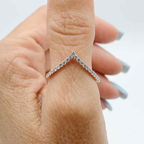 Diamond Warrior of Spirit Stackable Ring