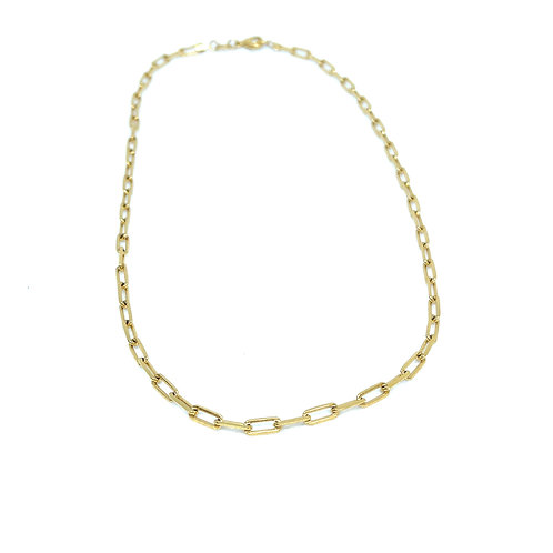 Large Gold Chain Link Necklace