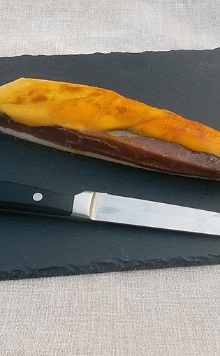 Magret de canard salé/fumé à la mangue